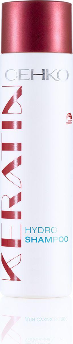C:EHKO Keratin Шампунь увлажняющий для сухих волос, 250 мл3104553Шампунь увлажняющий с кератином, пантенолом и экстрактом белого чая увлажняет сухие волосы, не утяжеляя их, а также придает им здоровый и блеск. Насыщенная кератином формула активных компонентов заметно улучшает структуру волос и придает им превосходную эластичность.