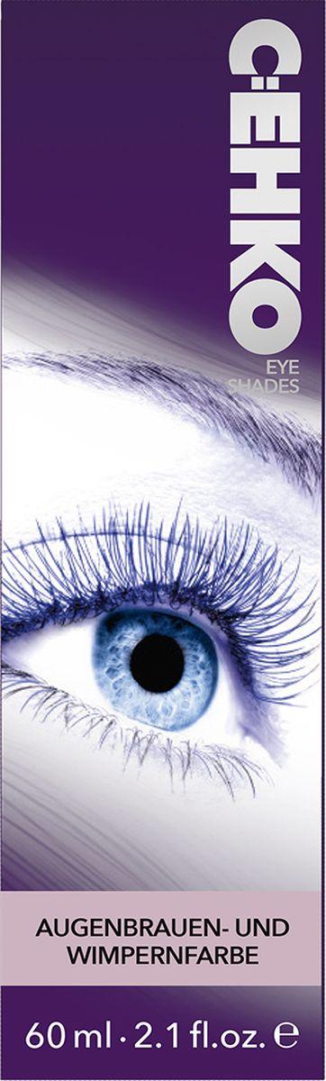 C:EHKO Краска для бровей и ресниц Eye Shades, Черный, 60 мл estel enigma краска для бровей и ресниц тон классический коричневый 20 мл 20 мл