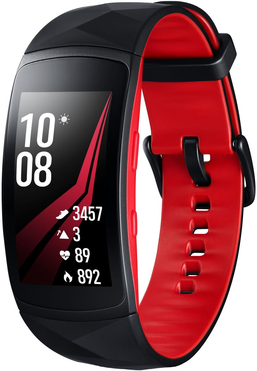 Samsung GearFit2 Pro SM-R365, Black Red умные часы 1more super bass headphones black and red
