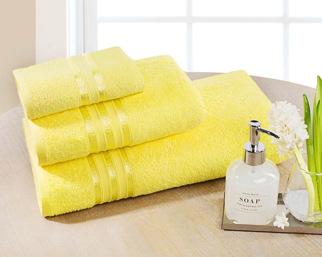 Полотенце банное Dome  Harmonika , цвет: желтый, 70 х 130 см - Полотенца