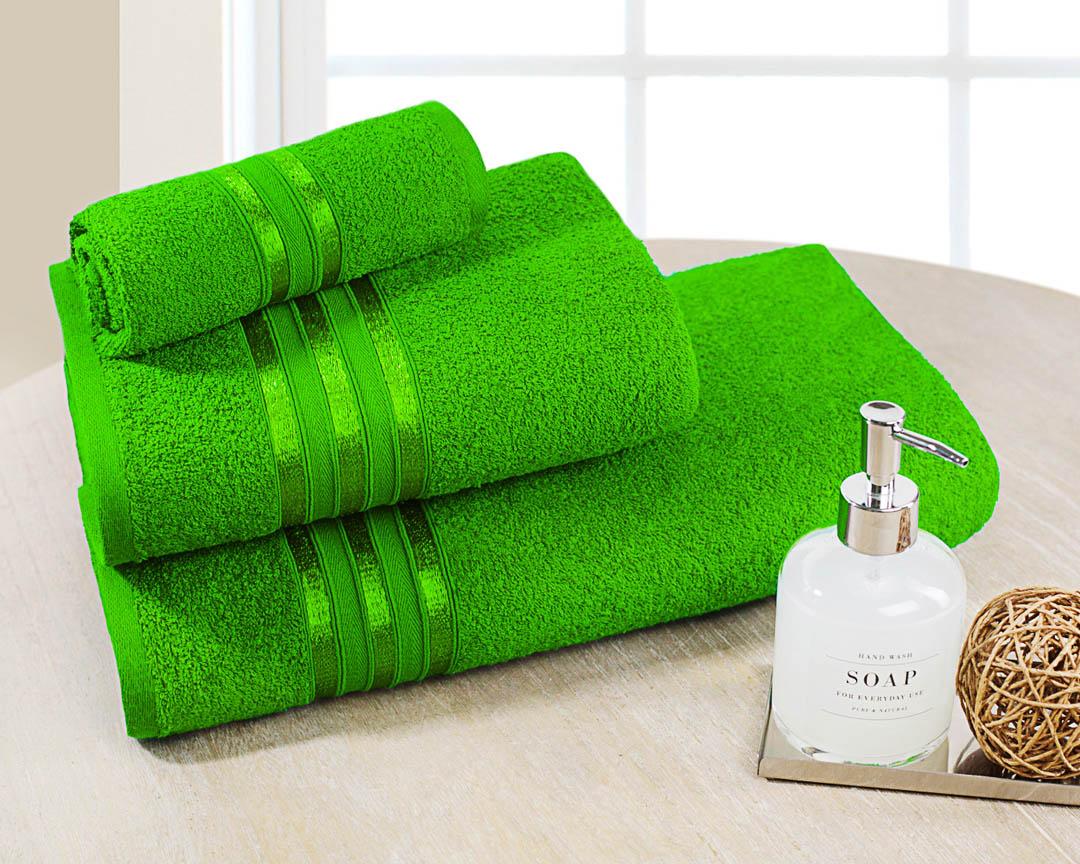 Полотенце банное Dome  Harmonika , цвет: зеленый, 70 х 130 см - Полотенца