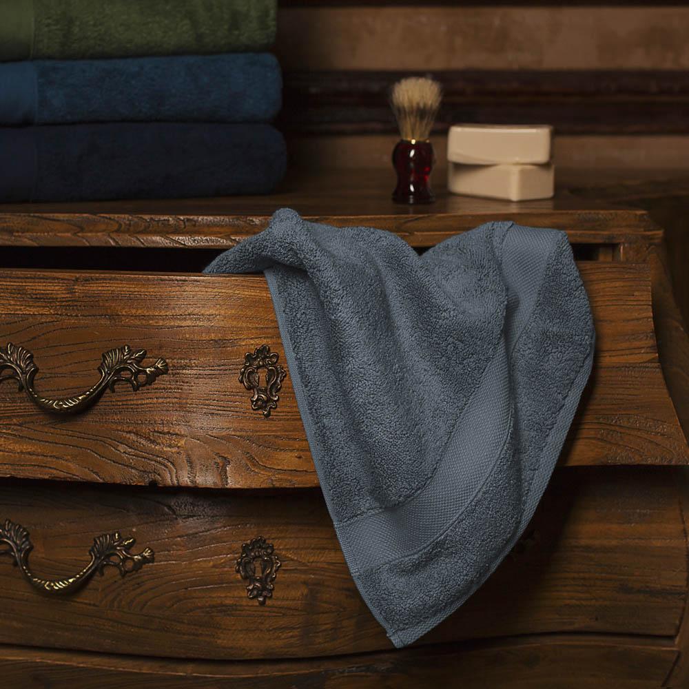Полотенце для лица William Roberts  Aberdeen , цвет: серо-голубой, 50 х 90 см - Полотенца