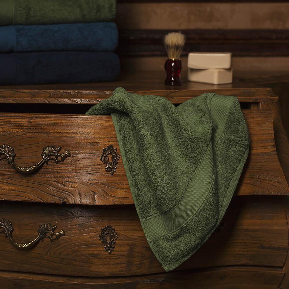 Полотенце для лица William Roberts  Aberdeen , цвет: зеленый, 50 х 90 см - Полотенца