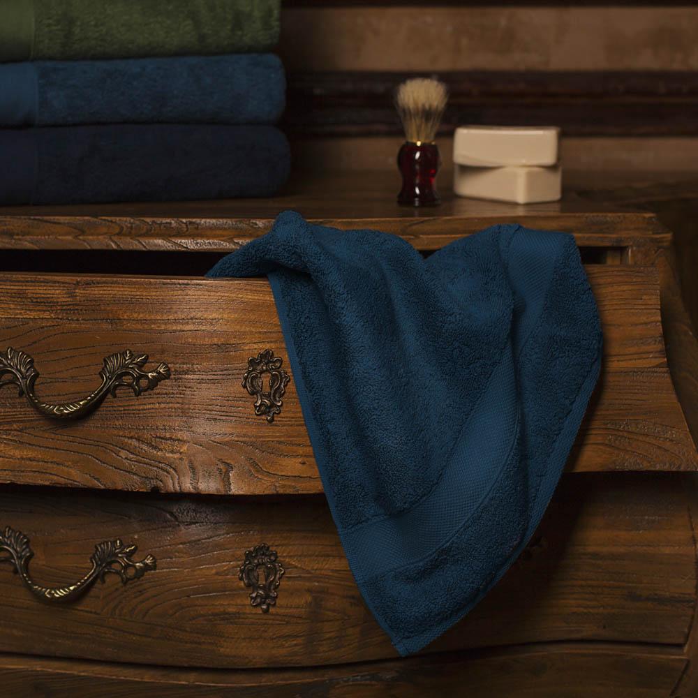Полотенце для лица William Roberts  Aberdeen , цвет: темно-синий, 50 х 90 см - Полотенца