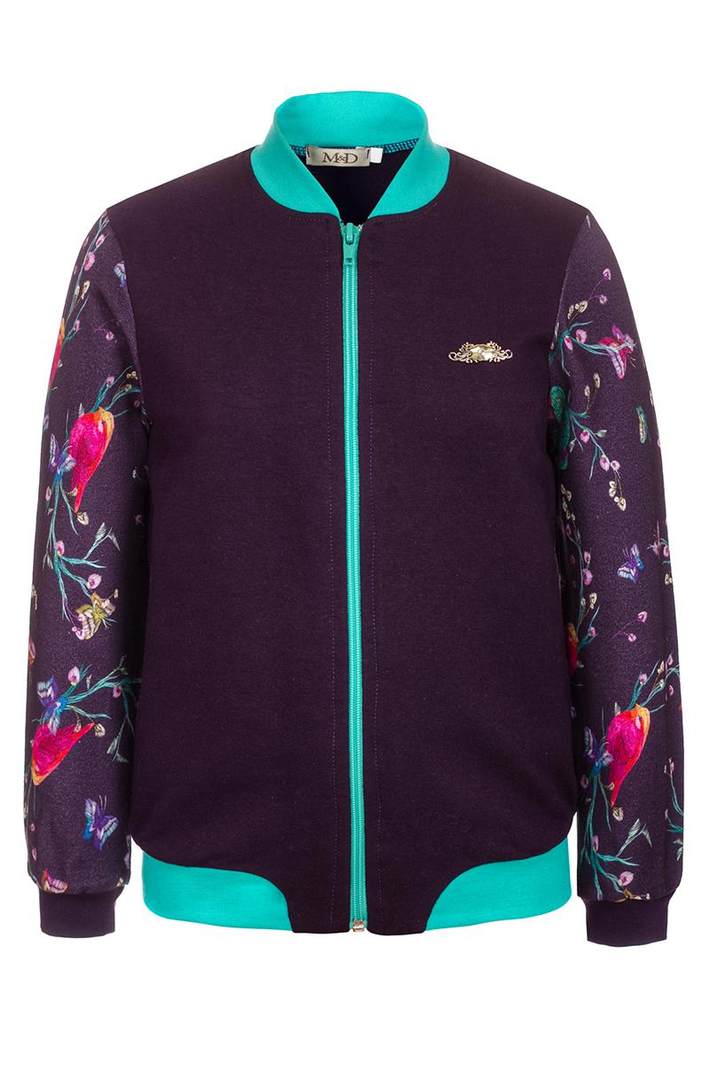 Жакет для девочки M&D, цвет: фиолетовый. WKJZ27046MS12. Размер 128WKJZ27046MS12