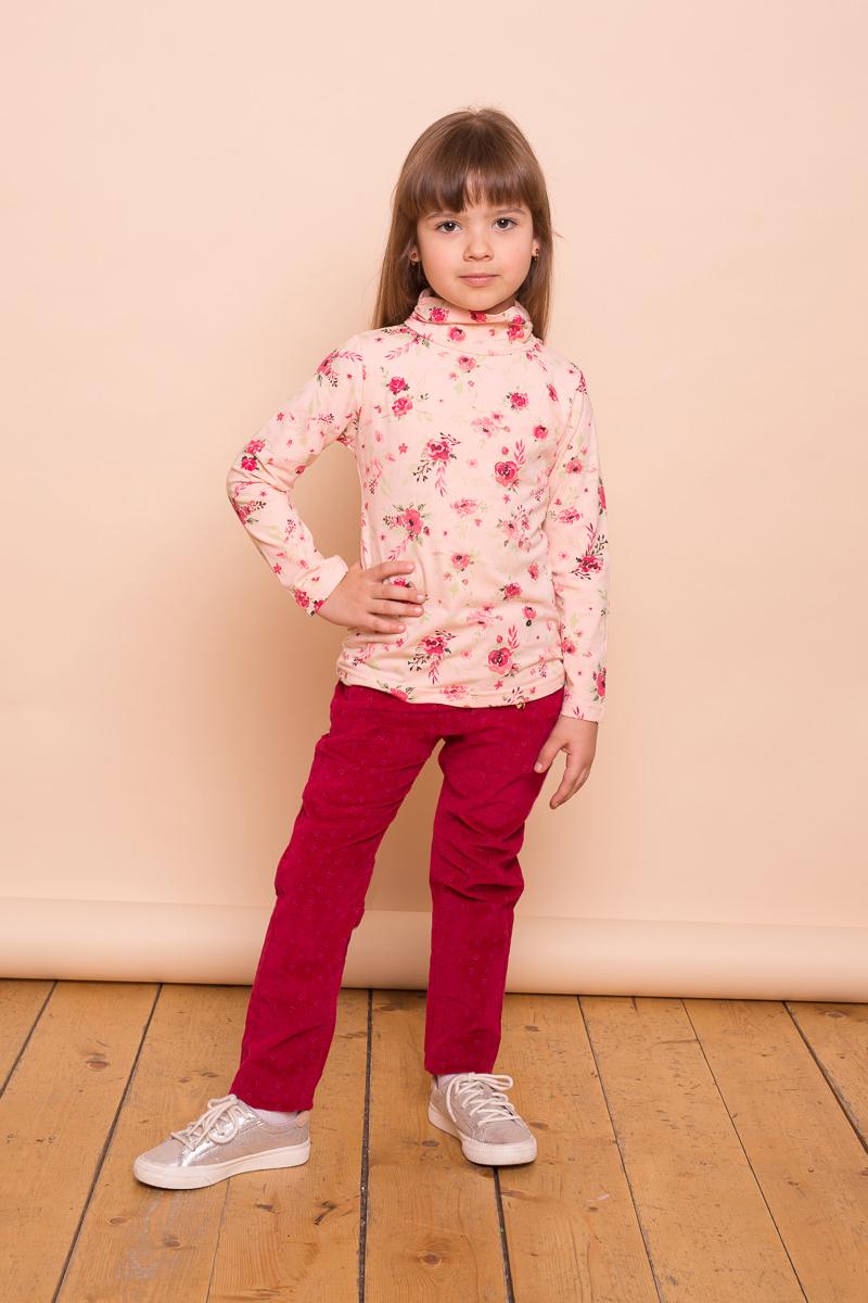 Брюки для девочки Sweet Berry, цвет: красный. 734145. Размер 110734145Яркие вельветовые брюки для девочки от Sweet Berry декорированы оригинальным печатным рисунком и брелоком. Прямой крой, средняя посадка. Застегиваются на молнию и крючок. Шлевки на поясе рассчитаны под ремень. В боковой части пояса находятся вшитые эластичные ленты, регулирующие посадку по талии.