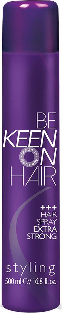 Keen Спрей для волос экстрасильной фиксации, 500 мл косметика для мамы sante спрей для обьема и натуральной фиксации волос 150 мл