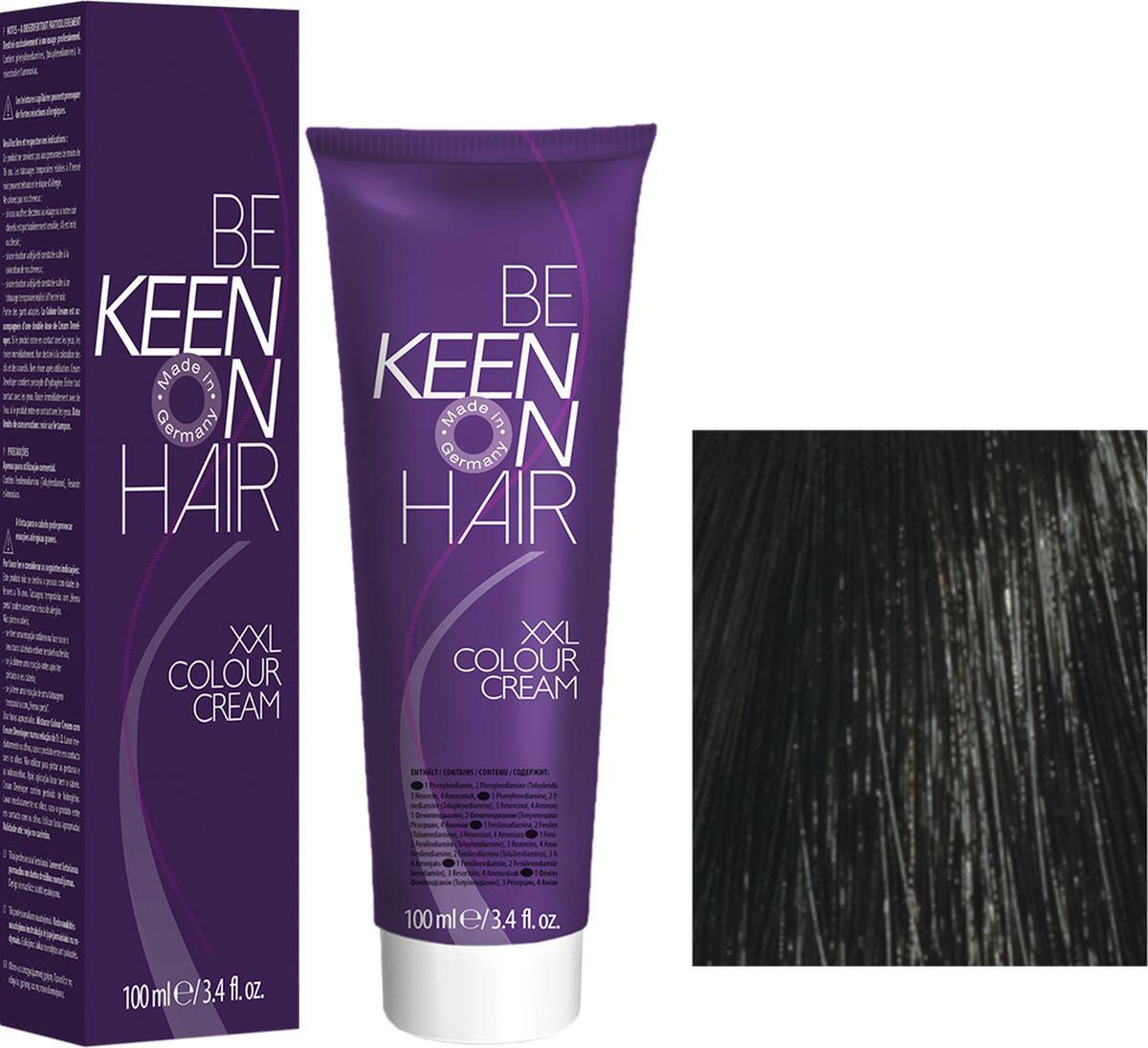 Keen Краска для волос 1.0 Черный Schwarz, 100 мл69100008Модные оттенкиБолее 100 оттенков для креативной комбинации цветов.ЭкономичностьПри использовании тюбика 100 мл вы получаете оптимальное соотношение цены и качества!УходМолочный белок поддерживает структуру волоса во время окрашивания и придает волосам блеск и шелковистость. Протеины хорошо встраиваются в волосы и снабжают их влагой.