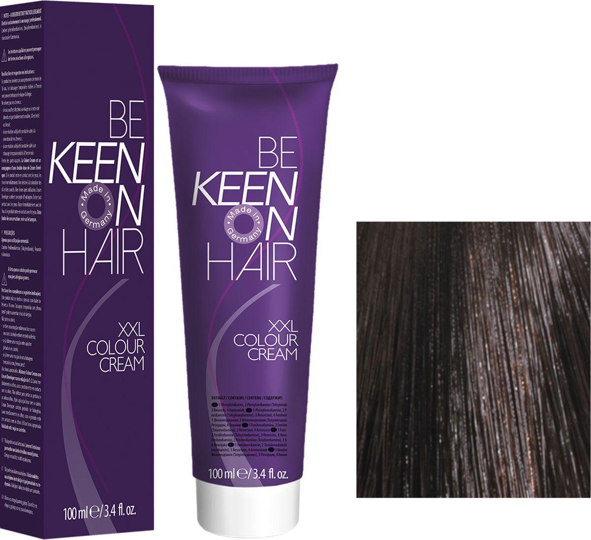 Keen Краска для волос 4.7 Мокко Mokka, 100 мл69100015Модные оттенкиБолее 100 оттенков для креативной комбинации цветов.ЭкономичностьПри использовании тюбика 100 мл вы получаете оптимальное соотношение цены и качества!УходМолочный белок поддерживает структуру волоса во время окрашивания и придает волосам блеск и шелковистость. Протеины хорошо встраиваются в волосы и снабжают их влагой.