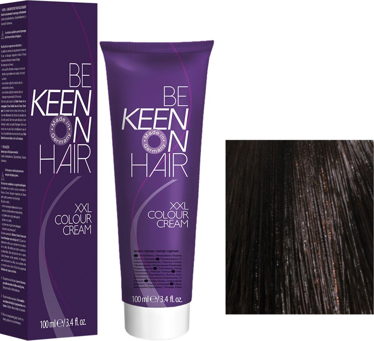Keen Краска для волос 4.71 Кардамон Kardamon, 100 мл69100016Модные оттенкиБолее 100 оттенков для креативной комбинации цветов.ЭкономичностьПри использовании тюбика 100 мл вы получаете оптимальное соотношение цены и качества!УходМолочный белок поддерживает структуру волоса во время окрашивания и придает волосам блеск и шелковистость. Протеины хорошо встраиваются в волосы и снабжают их влагой.