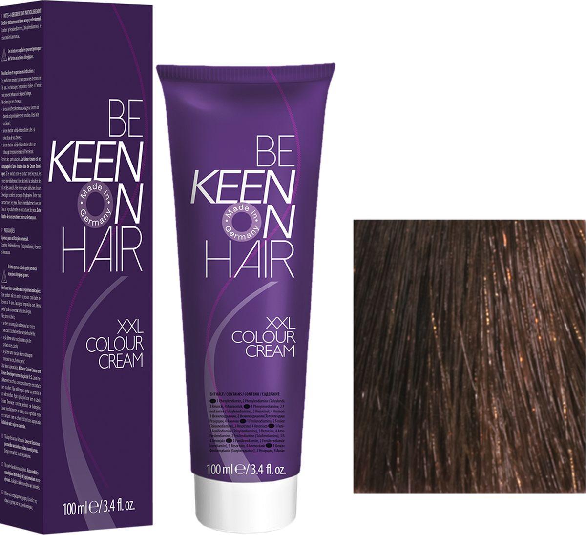 Keen Краска для волос 5.3 Светло-коричневый золотистый Hellbraun Gold, 100 мл69100020Модные оттенкиБолее 100 оттенков для креативной комбинации цветов.ЭкономичностьПри использовании тюбика 100 мл вы получаете оптимальное соотношение цены и качества!УходМолочный белок поддерживает структуру волоса во время окрашивания и придает волосам блеск и шелковистость. Протеины хорошо встраиваются в волосы и снабжают их влагой.