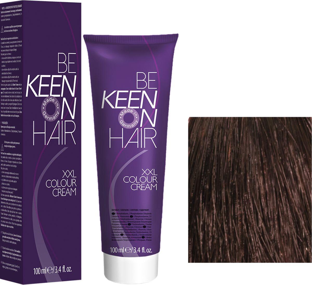 Keen Краска для волос 5.77 Эспрессо Espresso, 100 мл69100033Модные оттенкиБолее 100 оттенков для креативной комбинации цветов.ЭкономичностьПри использовании тюбика 100 мл вы получаете оптимальное соотношение цены и качества!УходМолочный белок поддерживает структуру волоса во время окрашивания и придает волосам блеск и шелковистость. Протеины хорошо встраиваются в волосы и снабжают их влагой.