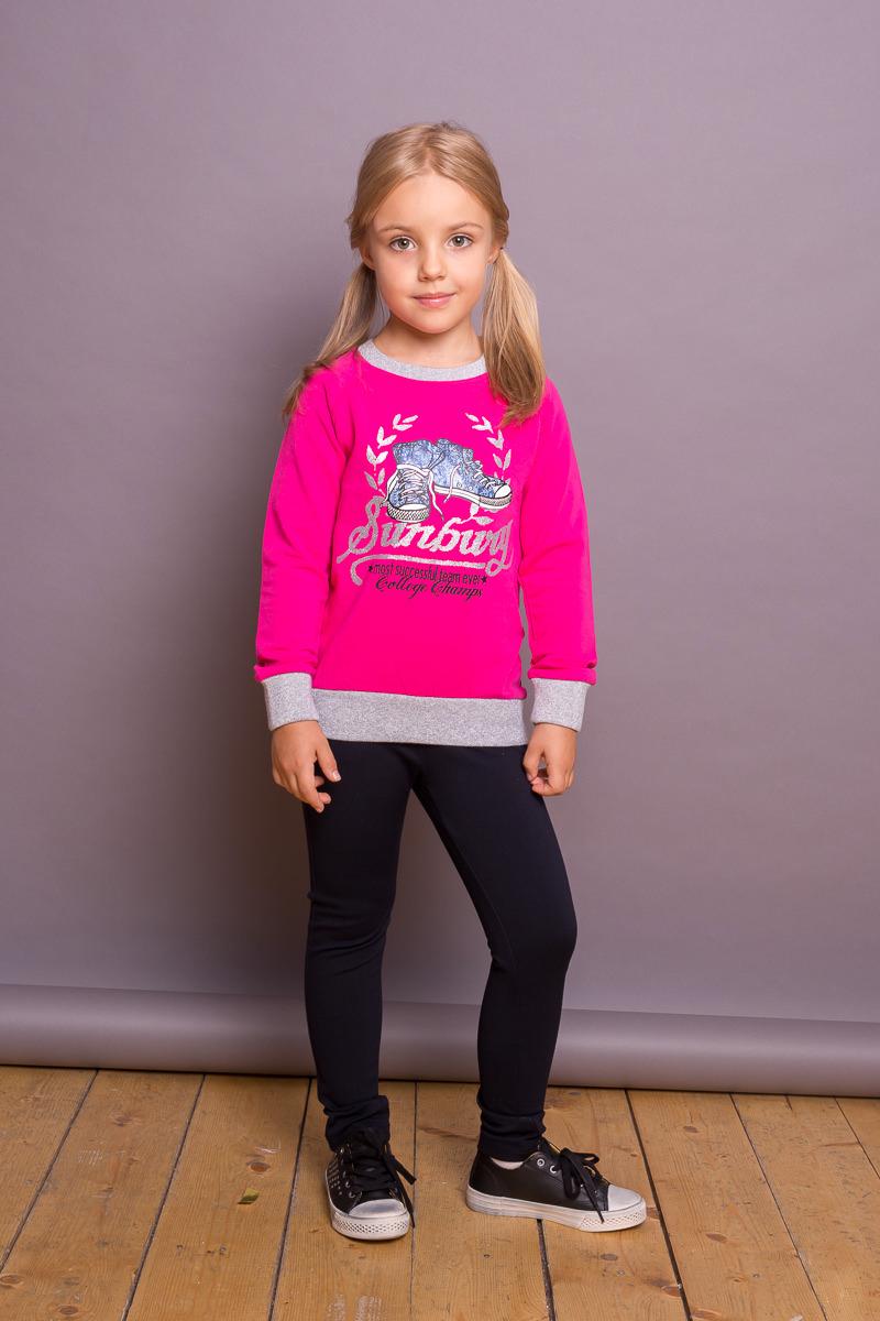 Брюки для девочки Sweet Berry, цвет: темно-синий. 734083. Размер 110734083Трикотажные брюки-джеггинсы для девочки от Sweet Berry выполнены из эластичного хлопка. Декорированы бантиками по бокам. Средняя посадка, зауженный крой.