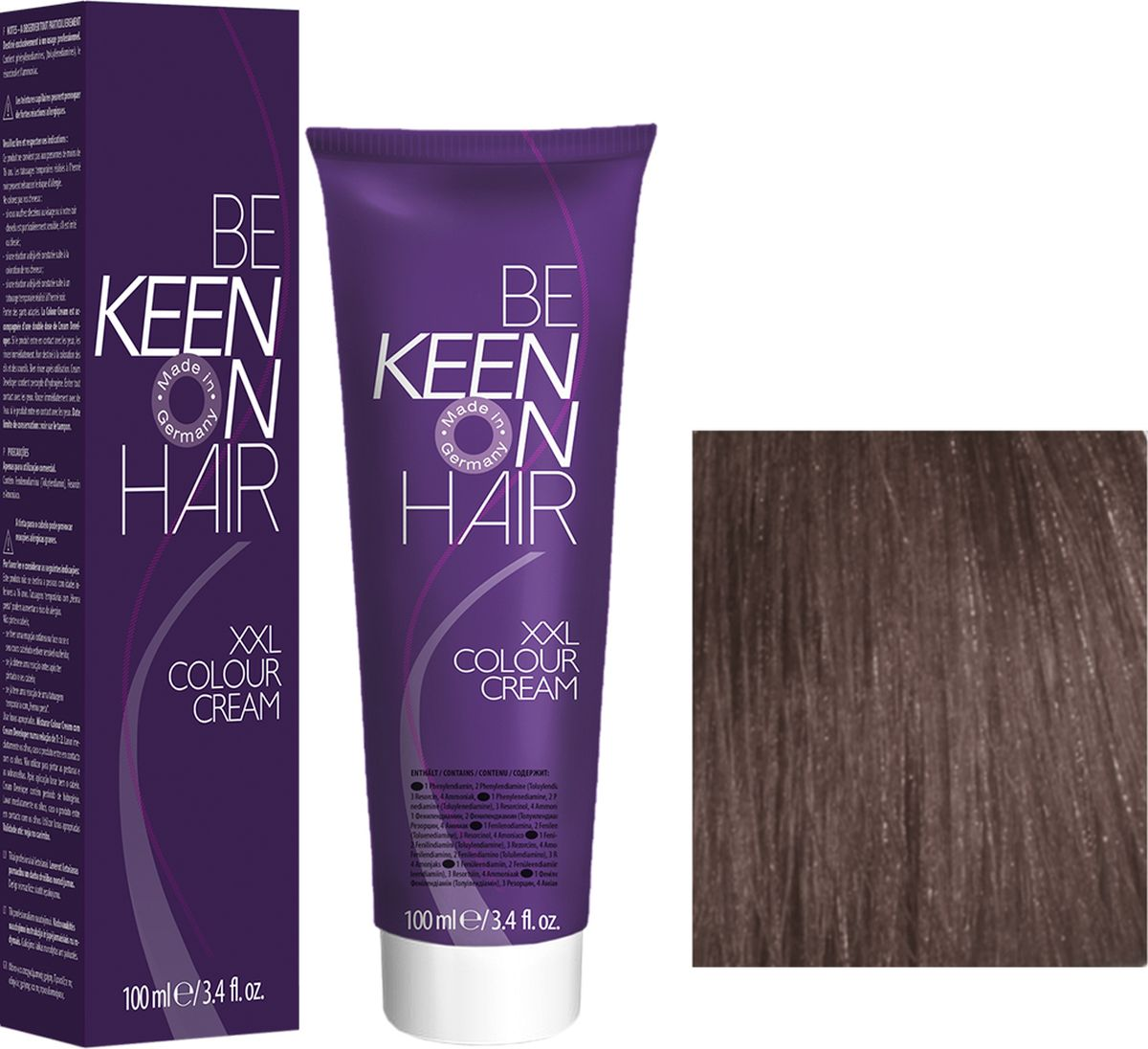 Keen Краска для волос 6.1 Темно-пепельный блондин Dunkelblond Asch, 100 мл69100107Модные оттенкиБолее 100 оттенков для креативной комбинации цветов.ЭкономичностьПри использовании тюбика 100 мл вы получаете оптимальное соотношение цены и качества!УходМолочный белок поддерживает структуру волоса во время окрашивания и придает волосам блеск и шелковистость. Протеины хорошо встраиваются в волосы и снабжают их влагой.