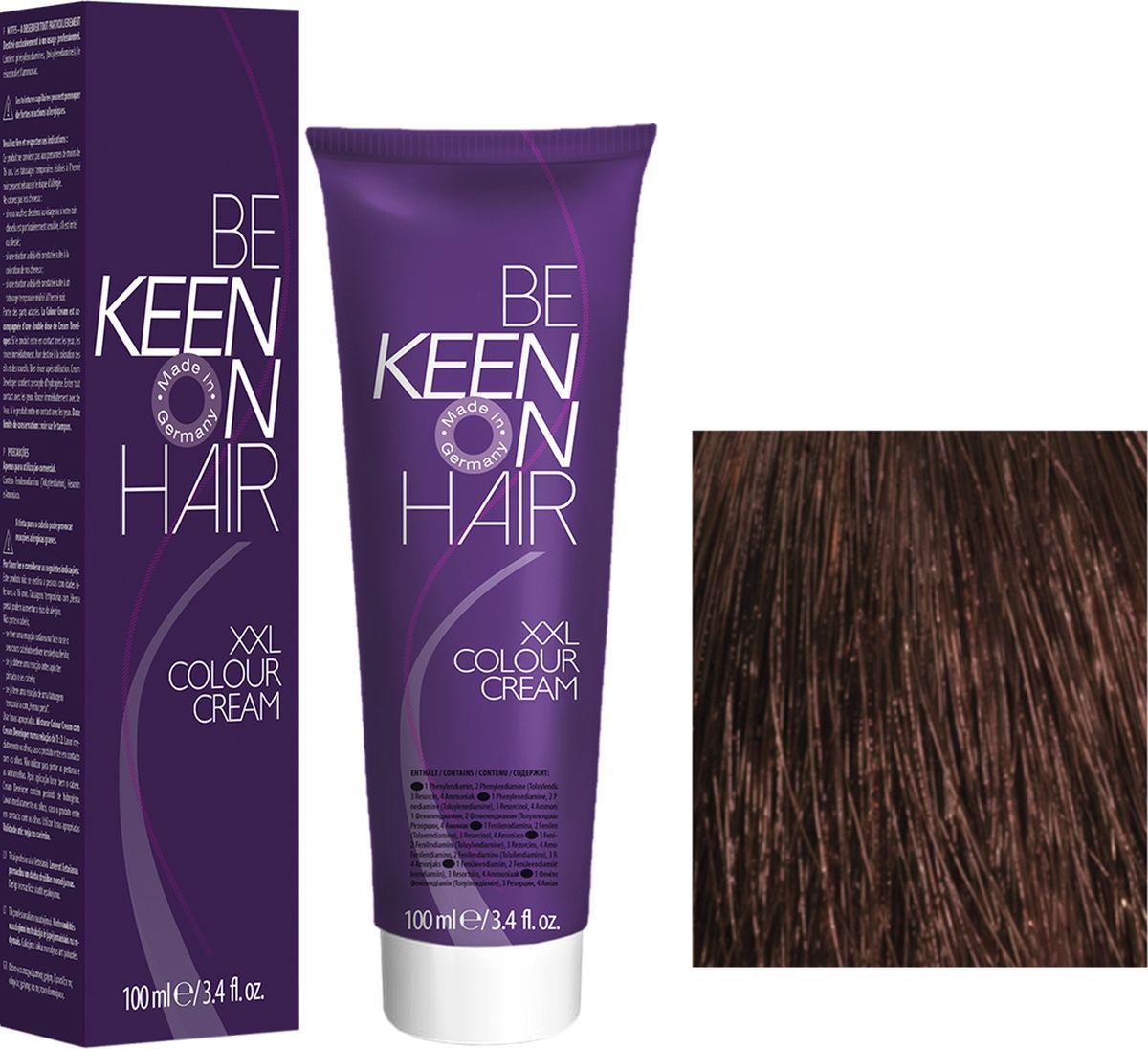 Keen Краска для волос 6.77 Кофе Kaffee, 100 мл382516Модные оттенкиБолее 100 оттенков для креативной комбинации цветов.ЭкономичностьПри использовании тюбика 100 мл вы получаете оптимальное соотношение цены и качества!УходМолочный белок поддерживает структуру волоса во время окрашивания и придает волосам блеск и шелковистость. Протеины хорошо встраиваются в волосы и снабжают их влагой.