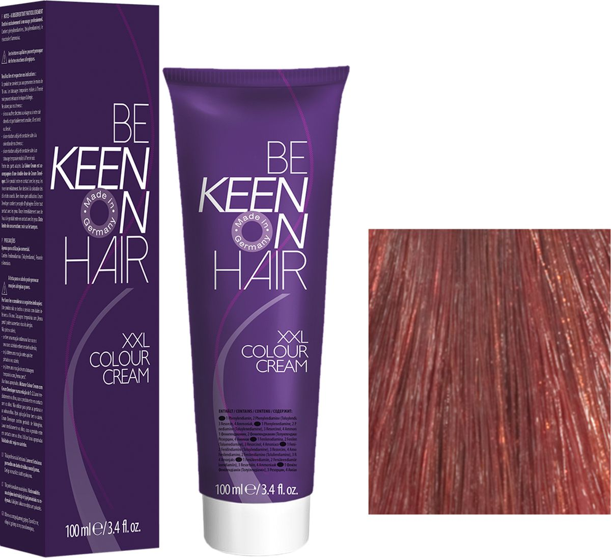 Keen Краска для волос 7.45 Натуральный медно-красный блондин Mittelblond Kupfer-Rot, 100 мл69100061Модные оттенкиБолее 100 оттенков для креативной комбинации цветов.ЭкономичностьПри использовании тюбика 100 мл вы получаете оптимальное соотношение цены и качества!УходМолочный белок поддерживает структуру волоса во время окрашивания и придает волосам блеск и шелковистость. Протеины хорошо встраиваются в волосы и снабжают их влагой.