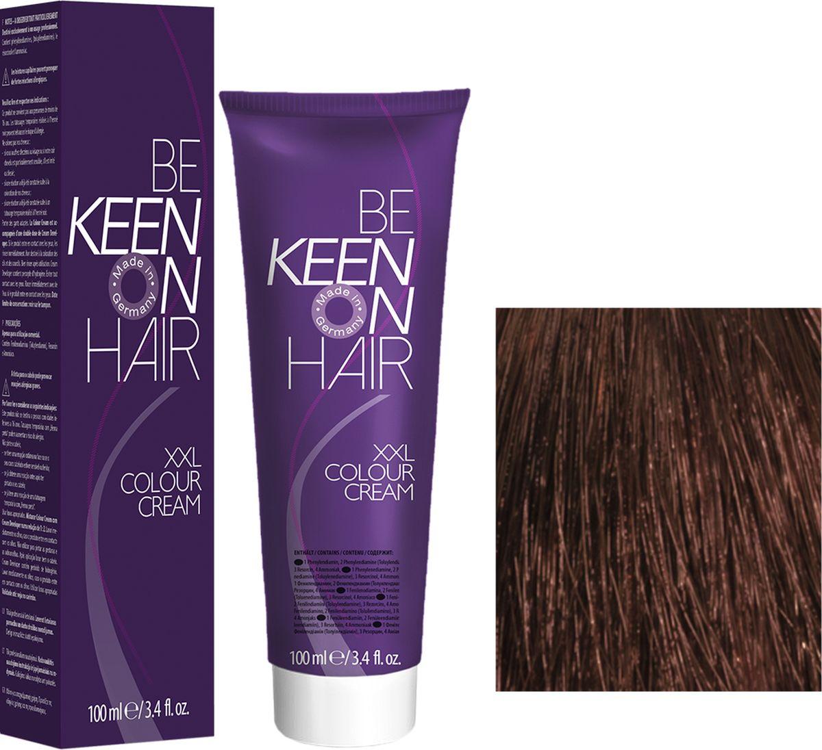 Keen Краска для волос 7.77 Капучино Cappuccino, 100 мл69100069Модные оттенкиБолее 100 оттенков для креативной комбинации цветов.ЭкономичностьПри использовании тюбика 100 мл вы получаете оптимальное соотношение цены и качества!УходМолочный белок поддерживает структуру волоса во время окрашивания и придает волосам блеск и шелковистость. Протеины хорошо встраиваются в волосы и снабжают их влагой.
