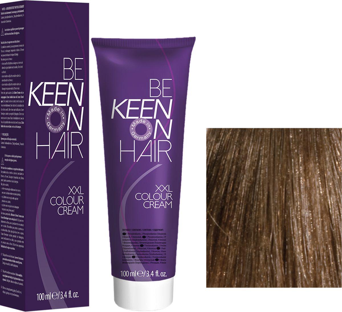 Keen Краска для волос 8.7 Песочный Sand, 100 мл69100080Модные оттенкиБолее 100 оттенков для креативной комбинации цветов.ЭкономичностьПри использовании тюбика 100 мл вы получаете оптимальное соотношение цены и качества!УходМолочный белок поддерживает структуру волоса во время окрашивания и придает волосам блеск и шелковистость. Протеины хорошо встраиваются в волосы и снабжают их влагой.