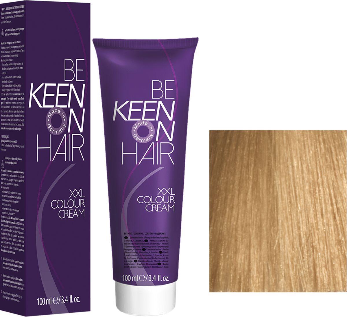 Keen Краска для волос 9.0 Светлый блондин Hellblond, 100 мл69100085Модные оттенкиБолее 100 оттенков для креативной комбинации цветов.ЭкономичностьПри использовании тюбика 100 мл вы получаете оптимальное соотношение цены и качества!УходМолочный белок поддерживает структуру волоса во время окрашивания и придает волосам блеск и шелковистость. Протеины хорошо встраиваются в волосы и снабжают их влагой.