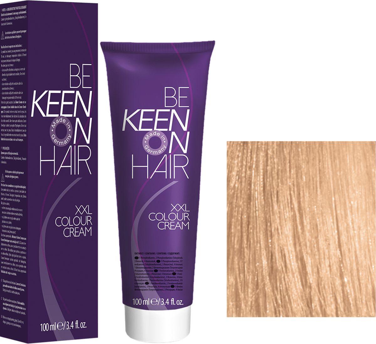 Keen Краска для волос 9.3 Светло-золотистый блондин Hellblond Gold, 100 мл69100088Модные оттенкиБолее 100 оттенков для креативной комбинации цветов.ЭкономичностьПри использовании тюбика 100 мл вы получаете оптимальное соотношение цены и качества!УходМолочный белок поддерживает структуру волоса во время окрашивания и придает волосам блеск и шелковистость. Протеины хорошо встраиваются в волосы и снабжают их влагой.
