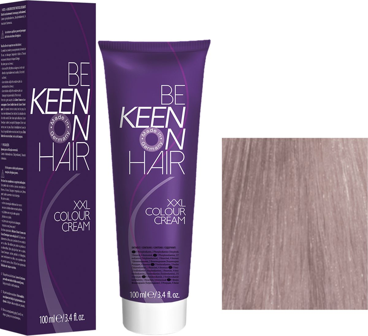 Keen Краска для волос 9.8 Светлый жемчужный блондин Hellblond Perl, 100 мл69100095Модные оттенкиБолее 100 оттенков для креативной комбинации цветов.ЭкономичностьПри использовании тюбика 100 мл вы получаете оптимальное соотношение цены и качества!УходМолочный белок поддерживает структуру волоса во время окрашивания и придает волосам блеск и шелковистость. Протеины хорошо встраиваются в волосы и снабжают их влагой.
