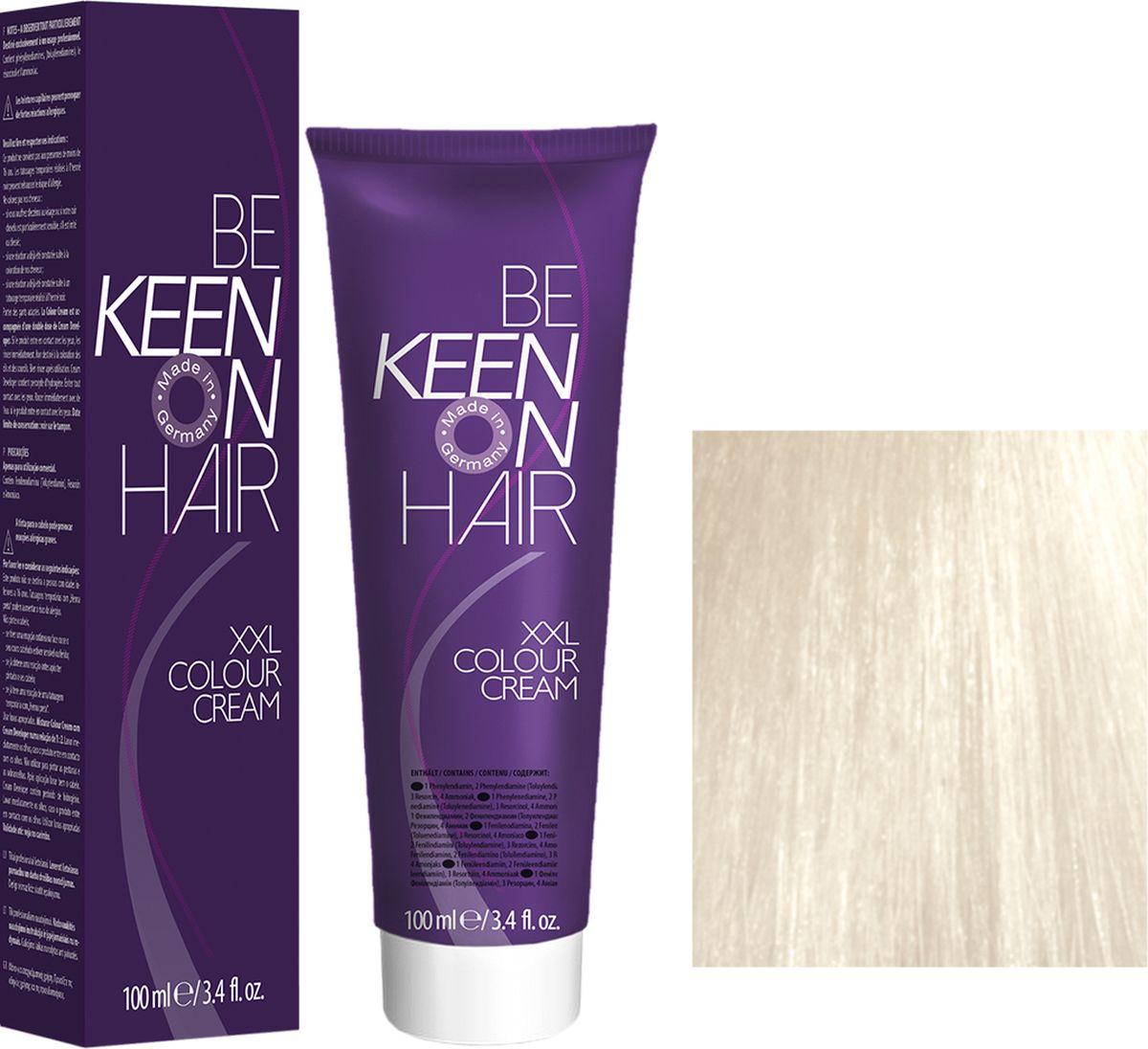 Keen Краска для волос 12.00 Платиновый блондин Platinblond, 100 мл69100103Модные оттенкиБолее 100 оттенков для креативной комбинации цветов.ЭкономичностьПри использовании тюбика 100 мл вы получаете оптимальное соотношение цены и качества!УходМолочный белок поддерживает структуру волоса во время окрашивания и придает волосам блеск и шелковистость. Протеины хорошо встраиваются в волосы и снабжают их влагой.