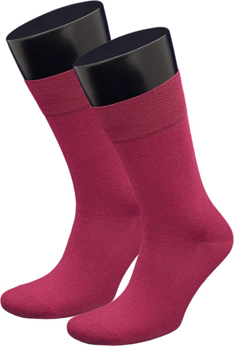 Носки мужские Гранд, цвет: бордовый, 2 пары. ZCL167. Размер 25/27ZCL167Мужские носки из хлопка для повседневной носки: - основа материала – высококачественный хлопок; - хорошо держат форму и обладают повышенной воздухопроницаемостью; - не линяют после многочисленных стирок; - мягкая анатомическая резинка. Носки произведены по европейским стандартам на современный вязальных автоматах.