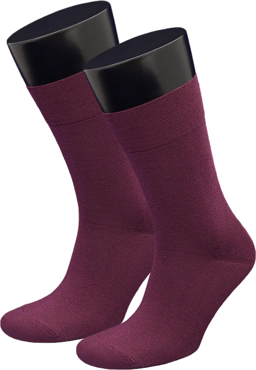 Носки мужские Гранд, цвет: темно-бордовый, 2 пары. ZCL167. Размер 27/29ZCL167Мужские носки из хлопка для повседневной носки: - основа материала – высококачественный хлопок; - хорошо держат форму и обладают повышенной воздухопроницаемостью; - не линяют после многочисленных стирок; - мягкая анатомическая резинка. Носки произведены по европейским стандартам на современный вязальных автоматах.В комплект входят две пары носок.