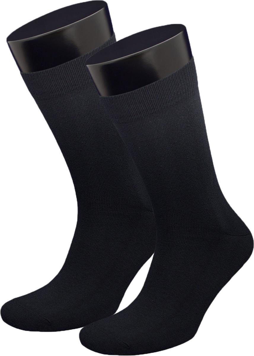 Носки мужские Гранд, цвет: черный, 2 пары. ZCP172. Размер 25 [jingdong супермаркет] cardin пирр кардин черный размер 180d установлены две пары толстой бесшовной живота бархатных колготках