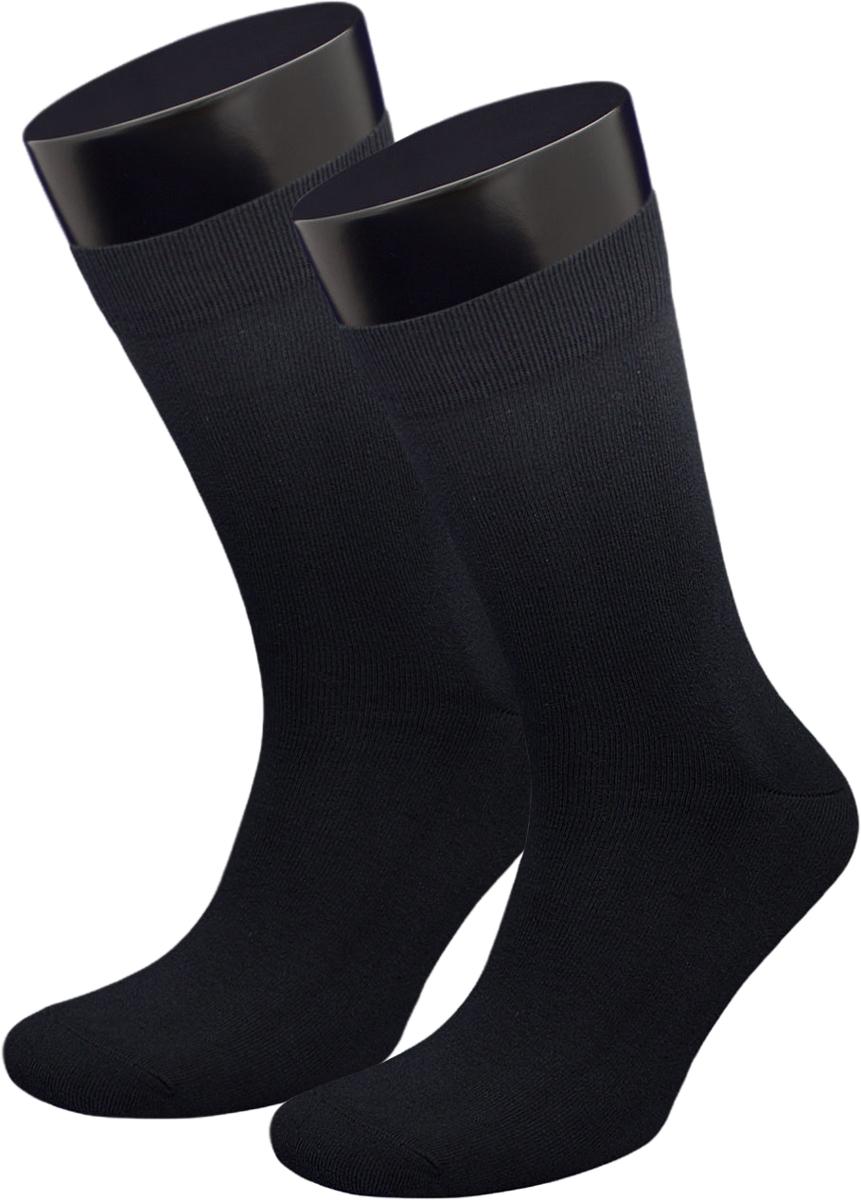 Носки мужские Гранд, цвет: черный, 2 пары. ZCPL174. Размер 27/29ZCPL174Классические мужские носки из хлопка для повседневной носки: - не линяют после многочисленных стирок; - усилены пятка и мысок; - анатомическая резинка. Носки долгое время сохраняют форму и цвет, а так же обладают терморегулирующими свойствами. В комплект входят две пары носок.