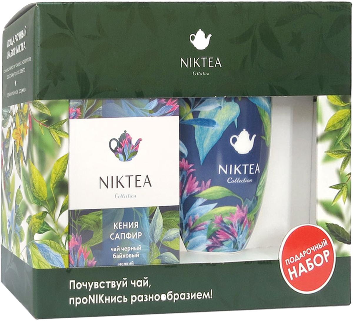 Niktea подарочный набор с пакетированным чаем Кения Сапфир, 25 шт и синей кружкойANIKT0-000010