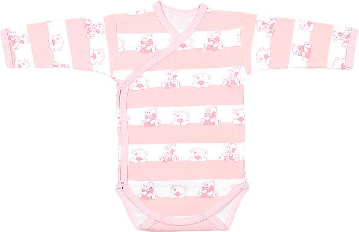 Боди для девочки Чудесные одежки, цвет: белый, розовый. 5897. Размер 86 боди детское hudson baby hudson baby боди цыплёнок 3 шт бирюзово розовый