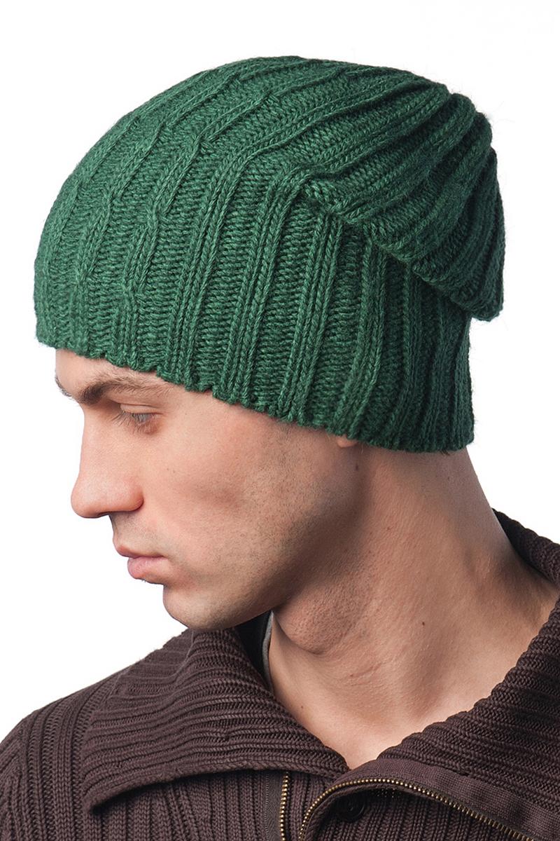 Шапка мужская Elfrio, цвет: темно-зеленый. Размер 57/59. RMH6461/2RMH6461/2Теплая шапка Elfrio, выполнена из комфортного материала, дополнена подкладкой из полиэстера. Данная модель мягкая и комфортная на ощупь, отличный вариант на каждый день.