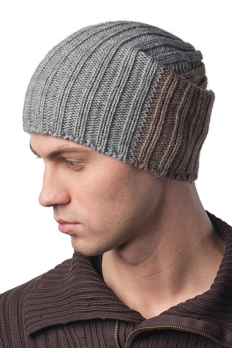 Шапка мужская Elfrio, цвет: серый, коричневый. Размер 57/59. RMH6466/1RMH6466/1Отличная мужская шапка Elfrio с модным дизайном, выполнена из комфортного материала. Данная модель мягкая и комфортная на ощупь, отличный вариант на каждый день.