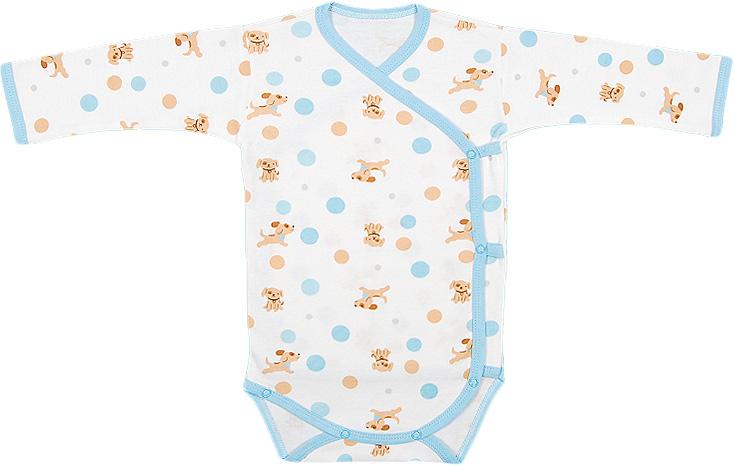 Боди для мальчика Чудесные одежки, цвет: белый, бежевый, голубой. 5897. Размер 685897Детское боди Чудесные одежки идеально подойдет вашему ребенку, обеспечивая ему наибольший комфорт. Боди с длинными рукавами изготовлено из натурального хлопка, благодаря чему оно необычайно мягкое и легкое, не раздражает нежную кожу ребенка и хорошо вентилируется. Боди не сковывает движения малыша, а удобные застежки-кнопки сбоку и на ластовице помогают легко переодеть ребенка. Современный дизайн и яркая расцветка делают боди оригинальным и стильным предметом детского гардероба. В нем ваш ребенок всегда будет в центре внимания.
