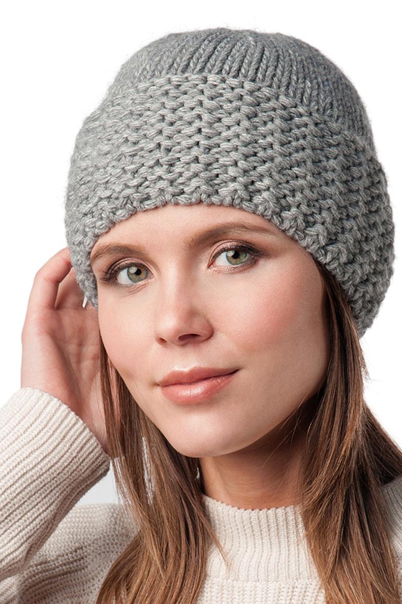 Шапка женская Elfrio, цвет: серый. Размер 56/58. RWH6107/2RWH6107/2Отличная вязаная шапка Elfrio выполнена из акрила в стиле сasual. Подкладка исполнена из полиэстера. Модель прекрасно подойдет для женщин, ценящих комфорт и красоту. Незаменимая вещь на прохладную погоду.