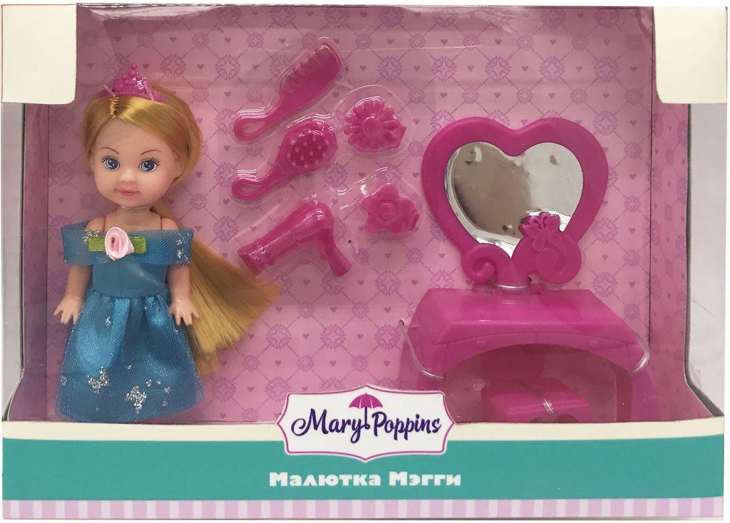 Mary Poppins Игровой набор Малютка Мегги Салон красоты с куклой вечернее платье