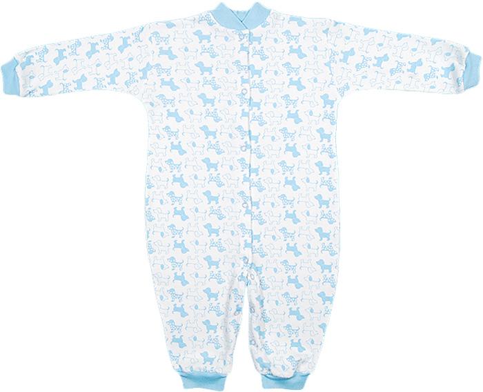 Комбинезон домашний для мальчика Чудесные одежки, цвет: белый, голубой. 5843. Размер 745843Комбинезон для девочки Чудесные одежки полностью соответствует особенностям жизни ребенка в ранний период, не стесняя и не ограничивая его в движениях. Выполненный из натурального хлопка, он очень мягкий и приятный на ощупь, не раздражает нежную и чувствительную кожу ребенка, позволяя ей дышать. Комбинезон с длинными рукавами и открытыми ножками имеет застежки- кнопки от горловины до щиколоток, которые помогают легко переодеть малыша или сменить подгузник. Воротник изготовлен из мягкой трикотажной резинки. Низ рукавов и низ брючин дополнены мягкими эластичными манжетами, не пережимающими ручки и ножки ребенка. В таком комбинезоне спинка ребенка всегда будет в тепле, кроха будет чувствовать себя комфортно и уютно.