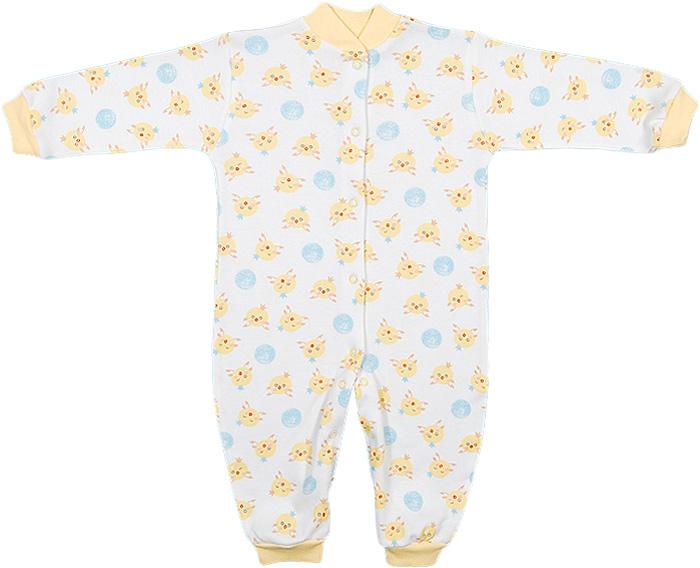 Комбинезон домашний для мальчика Чудесные одежки, цвет: белый, желтый, голубой. 5843. Размер 865843