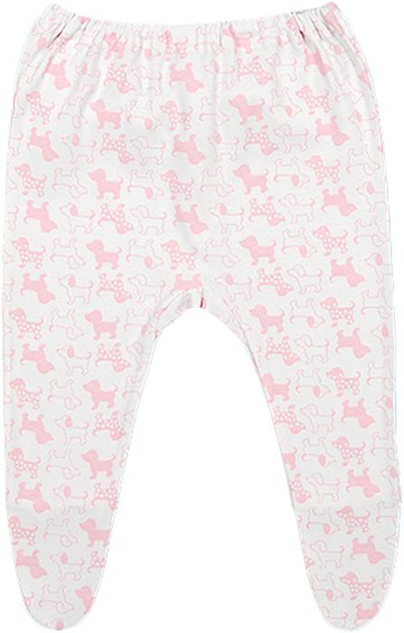 Ползунки для девочки Чудесные одежки, цвет: белый, розовый. 5286. Размер 685286