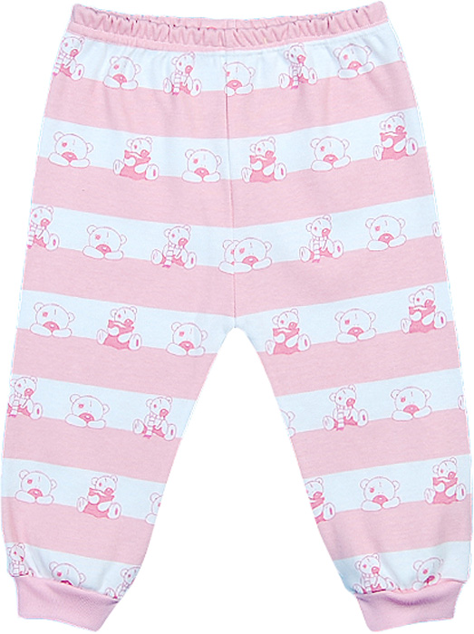Ползунки для девочки Чудесные одежки, цвет: белый, розовый. 5385. Размер 805385