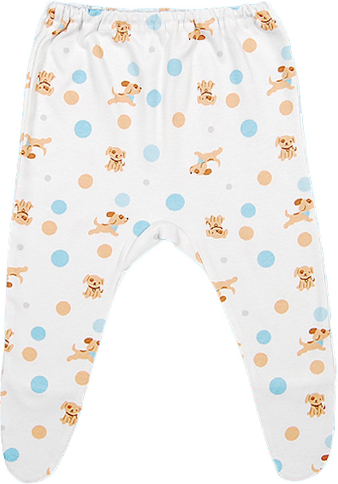 Ползунки для мальчика Чудесные одежки, цвет: белый, бежевый, голубой. 5286. Размер 685286
