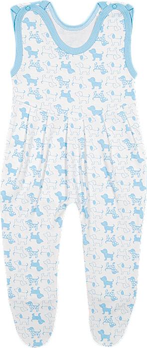 Ползунки для мальчика Чудесные одежки, цвет: белый, голубой. 5281. Размер 745281Ползунки с грудкой для девочки Чудесные одежки - очень удобный и практичный вид одежды для малышей. Они отлично сочетаются с футболками и кофточками, подходят для ношения с подгузником и без него. Ползунки выполнены из натурального хлопка, благодаря чему они очень мягкие и приятные на ощупь, не раздражают нежную кожу ребенка и хорошо вентилируются, обеспечивая комфорт. Ползунки с закрытыми ножками застегиваются сверху на две кнопки, что помогает с легкостью переодеть малышку. Спереди модели заложены небольшие складки. Ползунки полностью соответствуют особенностям жизни младенца в ранний период, не стесняя и не ограничивая его в движениях.