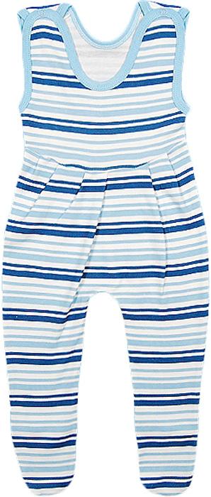 Ползунки для мальчика Чудесные одежки, цвет: белый, синий. 5281. Размер 685281