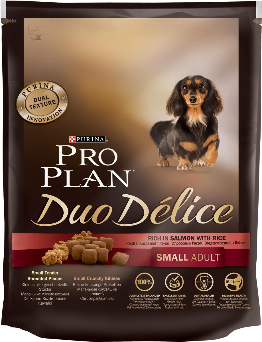 Корм сухой Pro Plan Duo Delice для собак мелких и карликовых пород, с лососем и рисом, 700 г12251947Сухой корм Pro Plan Duo Delice - это полнорационный корм для взрослых собак мелких и карликовых пород. Корм Pro Plan Duo Delice обеспечивает правильный баланс питательных веществ для поддержания здоровья и хорошего самочувствия взрослых маленьких собак. Тщательно отобранные ингредиенты и специально разработанный нами процесс приготовления обеспечивают высокую усвояемость корма, благодаря чему собаки получают необходимые им питательные вещества.Превосходный вкус. Собаки обожают инновационное сочетание хрустящих крокет и мягких кусочков, в которых основным ингредиентом является лосось.Для здоровья зубов. Уникальное сочетание хрустящих крокет и мягких кусочков побуждает собаку с удовольствием пережевывать корм. Механическое воздействие хрустящих крокет на зубы вашей собаки действует как зубная щетка, тем самым способствуя уменьшению отложения зубного камня.Для здоровья пищеварительного тракта. Содержащаяся в корме клетчатка помогает поддерживать здоровье пищеварительного тракта, помогает улучшить качество стула, а белок из специально подобранных ингредиентов питает клетки кишечника.Для здоровья пищеварительного тракта. Содержащаяся в корме клетчатка помогает поддерживать здоровье пищеварительного тракта, помогает улучшить качество стула, а белок из специально подобранных ингредиентов питает клетки кишечника. Состав: лосось (15%), сухой белок птицы, кукуруза, пшеница, рис (4%), животный жир, пшеничный глютен, сухая мякоть свеклы, минералы, вкусоароматическая кормовая добавка, кукурузный глютен, пропиленгликоль, яичный порошок, солодовая мука, витамины. Добавленные вещества (на 1 кг): витамин А 28200 МЕ; витамин D3 920 МЕ; витамин Е 550 МЕ; витамин С 140 мг; железо 75 мг; йод 1,9 мг; медь 10 мг; марганец 35 мг; цинк 140 мг; селен 0,12 мг. Технологические добавки: экстракт токоферолов натурального происхождения 50 мг/кг. Гарантируемые показатели: белок 27%, жир 17%, сырая з