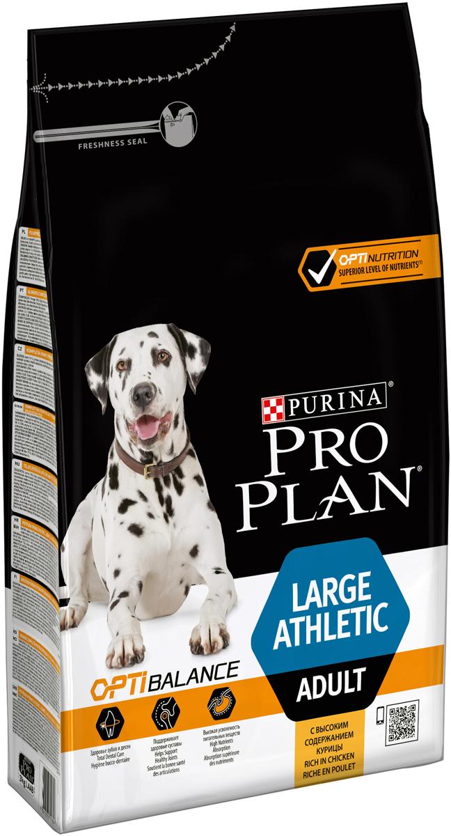 Корм сухой Pro Plan Atletik для взрослых собак крупных пород, с курицей, 3 кг корм для собак pro plan athletic для крупных пород курица сух 14кг