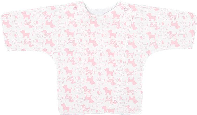 Распашонка для девочки Чудесные одежки, цвет: белый, розовый. 5082. Размер 565082