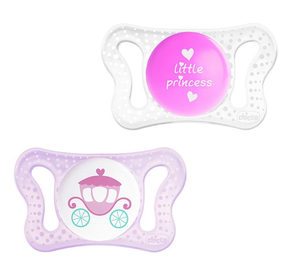 Chicco Пустышка силиконовая ортодонтическая Physio Micro от 0 до 2 месяцев цвет прозрачный розовый сиреневый 2 шт