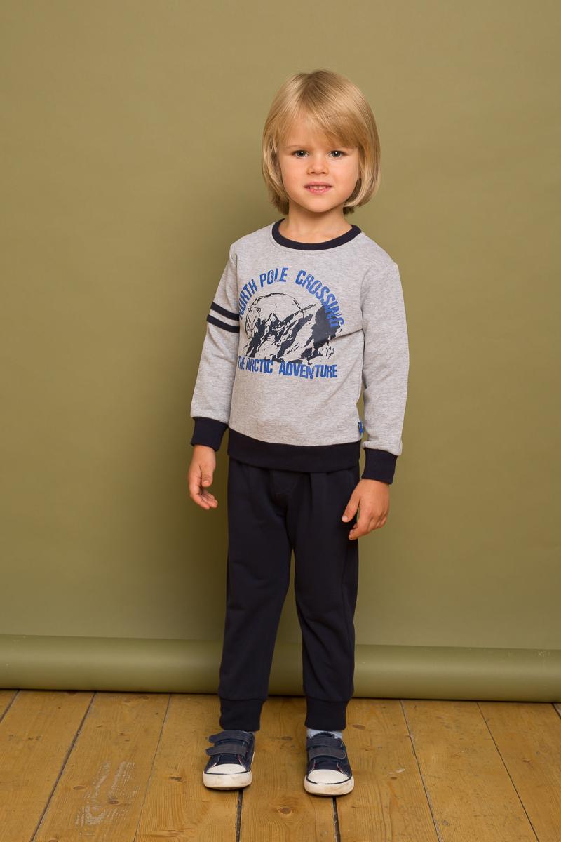 Брюки спортивные для мальчика Sweet Berry Baby, цвет: темно-синий. 731045. Размер 80731045Спортивные брюки для мальчика Sweet Berry Baby выполнены из эластичного хлопка. Низ брючин собран на мягкие манжеты. Пояс-резинка дополнен шнуром для регулирования объема по талии.