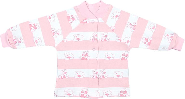 Распашонка для девочки Чудесные одежки, цвет: белый, розовый. 5184. Размер 625184